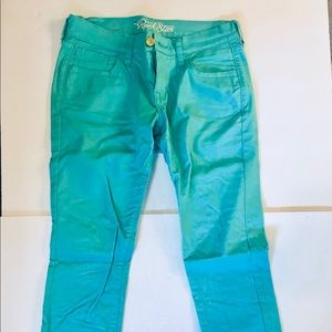 Old Navy Mint Green Rockstar jeans